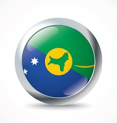 Christmas Island flag button vector image
