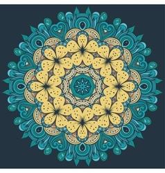 Circle decorative floral ornament rosette vector