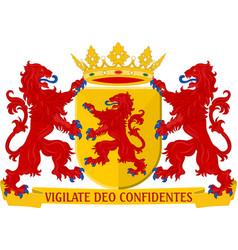 Coat of arms of south holland netherlands vector
