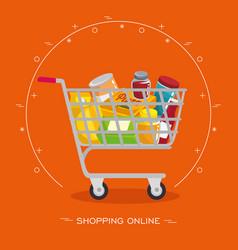 Colorful shopping design vector