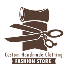 Custom handmade clothing fashion store sketch with vector
