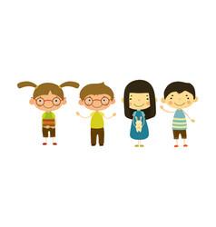 Cute children of different nationalities set vector