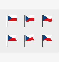 czech republic flag symbols set national flag vector image