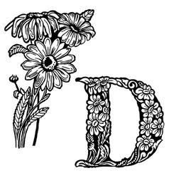 Daisy Letter D vector