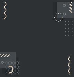 Dark tone memphis instagram ad background vector