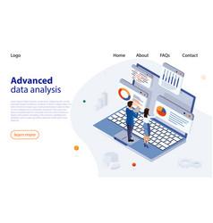 data analysis design concept business data vector image