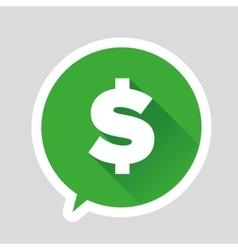 Dollar sign - flat design vector