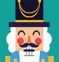 Face of nutcracker general toy icon vector