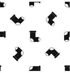 Felt boot pattern seamless black vector
