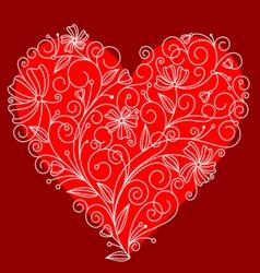 Floral heart vector