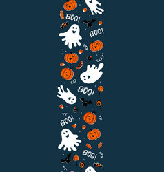 fun hand drawn halloween vertical seamless vector image
