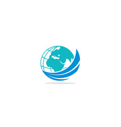 globe earth logo vector image