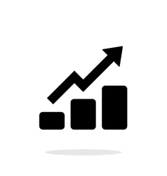 Graph up icon on white background vector image