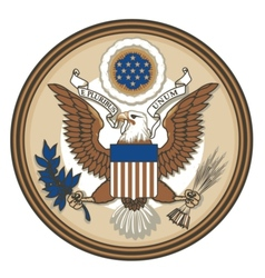 Great Seal of USA vector