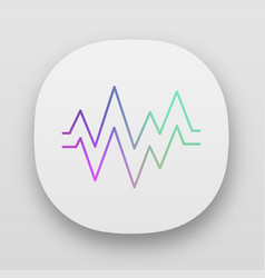 heart beat app icon uiux user interface sound vector image