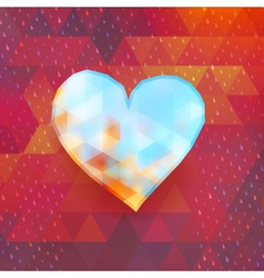 Heart on colorful triangles EPS 10 vector