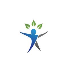 Human character logo sign health care logo sign vector