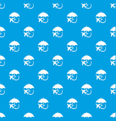 insurance fly pattern seamless blue vector image