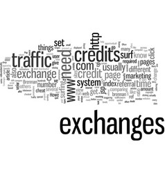 Intro to traffic exchanges vector