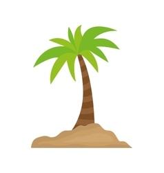 Island palm tree vector image