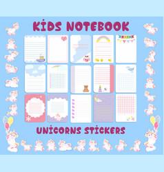 kids calendar planner great design for any vector image