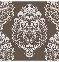 Lace floral element in eastern style vector