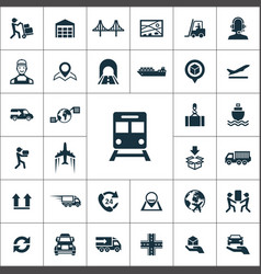 Logistics icons universal set for web and ui vector