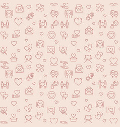 love concept pink seamless pattern in thin vector image