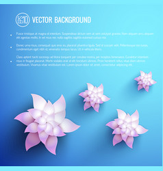 natural bright template vector image