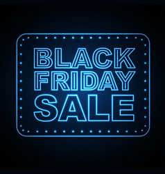 neon sign black friday sale vector image