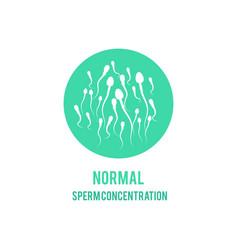 normal sperm male fertility concept icon vector image