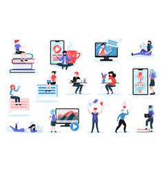 Online training set vector