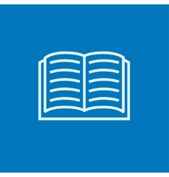 Open book line icon vector image