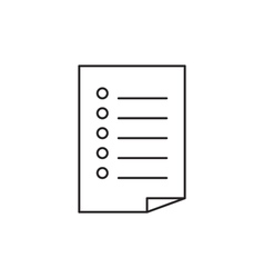 Outline document icon vector image
