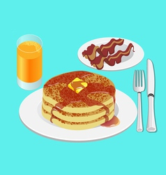 Pancakes for breakfast vector