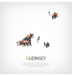 People map country Guernsey vector