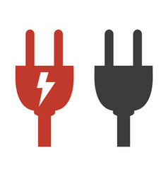 plug icon on white background vector image