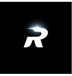 R letter logo bold italic letter for automotive vector