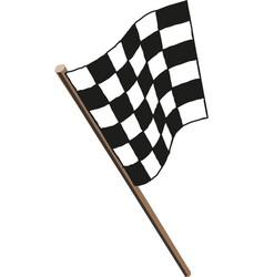 Racing flag icon flat design vector