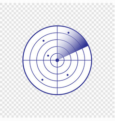 Radar screen icon vector