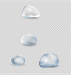 Realistic water drops isolated set vector