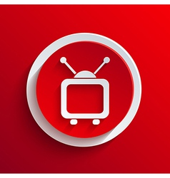 red circle icon Eps10 vector image