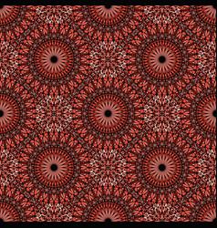 Red oriental bohemian floral mandala pattern vector