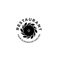 Restaurant logo for food and drinking industry vector