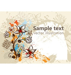 Rustic autumn background vector