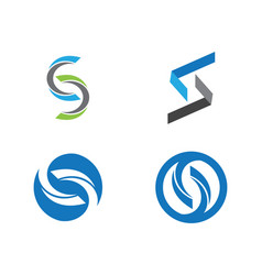 S letter logo icon design template vector