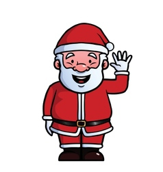 Santa Claus waving at camera vector image