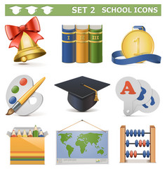 School Icons Set 2 vector