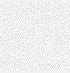Seamless wave tile white vector