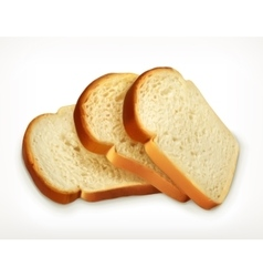 Sliced fresh wheat bread vector image